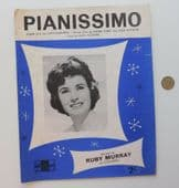 Pianissimo vintage sheet music love song French English lyrics Ruby Murray 1960s